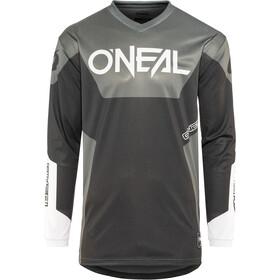 ONeal Element Miehet Pyöräilypaita pitkähihainen Racewear , harmaa/musta